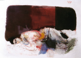 10.Giselbert Hoke, Female nude, 1970, mixed media