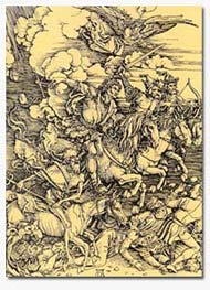 04.Albrecht Dürer, The Four Horsemen of the Apocalypse, 1498, woodcut